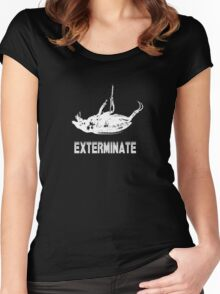 Exterminate T-shirt/Hoodie white Women's Fitted Scoop T-Shirt