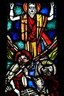 Stained glass window, Olden church, Norway by David Carton