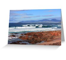 Raw Tasmania Greeting Card