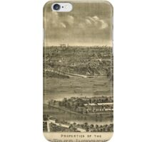 Panoramic Maps Properties of the Delaware River Improvement Company on Morrisville Island Pa iPhone Case/Skin