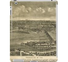Panoramic Maps Properties of the Delaware River Improvement Company on Morrisville Island Pa iPad Case/Skin