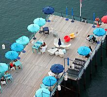 Blue Umbrellas, Sorrento, Italy by Claire McCall