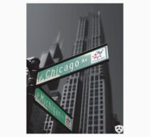 Chicago Street Sign One Piece - Short Sleeve