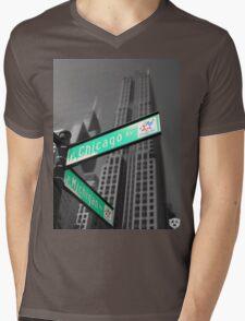 Chicago Street Sign Mens V-Neck T-Shirt