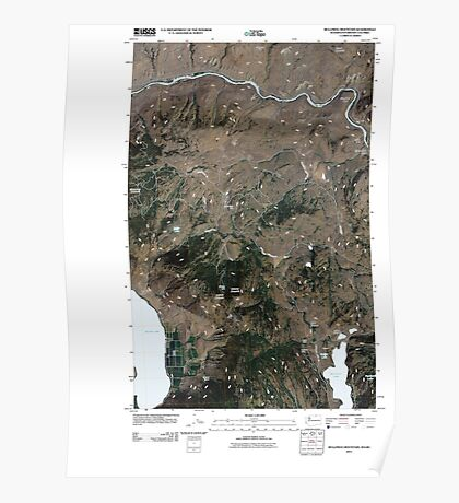 USGS Topo Map Washington State WA Bullfrog Mountain 20110503 TM Poster