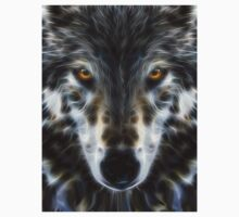 Wolf Inspirational Portrait One Piece - Short Sleeve