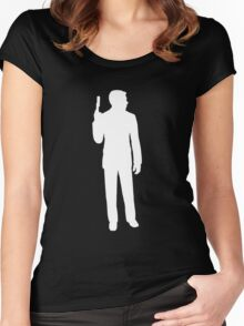 archer silhouette Women's Fitted Scoop T-Shirt