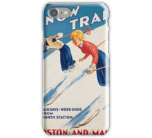 Vintage poster - snow train iPhone Case/Skin