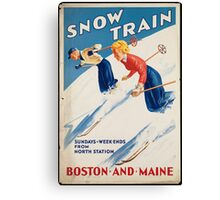 Vintage poster - snow train Canvas Print
