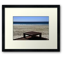 A Seat At The Beach Framed Print