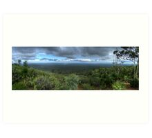 Mt Dale, View from the top, panorama HDR Art Print