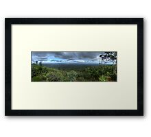 Mt Dale, View from the top, panorama HDR Framed Print