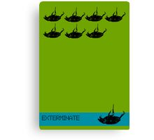 Exterminate poster green Canvas Print