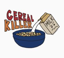 Cereal Killer, Funny Breakfast Food Shirt Kids Tee