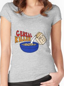 Cereal Killer, Funny Breakfast Food Shirt Women's Fitted Scoop T-Shirt