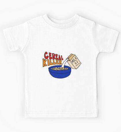 Cereal Killer, Funny Breakfast Food Shirt Kids Tee