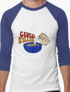 Cereal Killer, Funny Breakfast Food Shirt Men's Baseball ¾ T-Shirt
