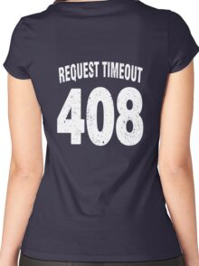 Team shirt - 408 Request Timeout, white letters Women's Fitted Scoop T-Shirt