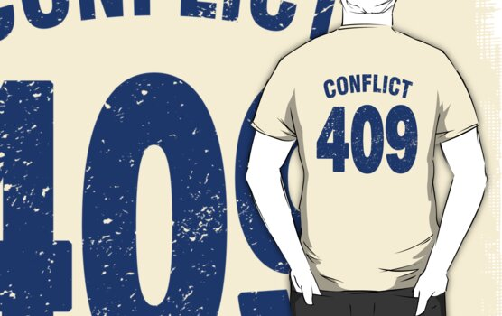 Team shirt - 409 Conflict, blue letters by JRon