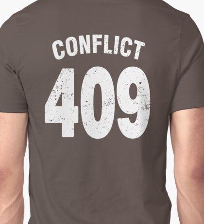 Team shirt - 409 Conflict, white letters Unisex T-Shirt