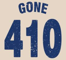 Team shirt - 410 Gone, blue letters by JRon