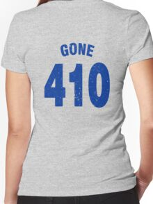 Team shirt - 410 Gone, blue letters Women's Fitted V-Neck T-Shirt