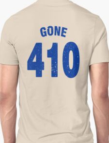 Team shirt - 410 Gone, blue letters T-Shirt