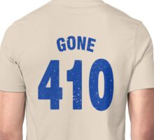 Team shirt - 410 Gone, blue letters Unisex T-Shirt