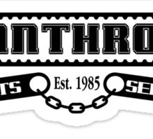 Pantrho's Parts and Service (black) Sticker