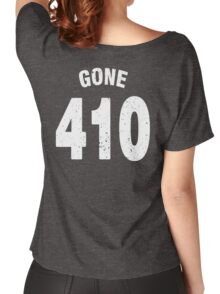 Team shirt - 410 Gone, white letters Women's Relaxed Fit T-Shirt