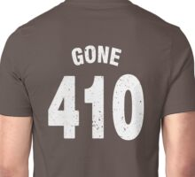 Team shirt - 410 Gone, white letters Unisex T-Shirt