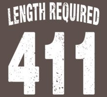 Team shirt - 411 Length Required, white letters by JRon