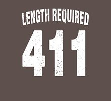 Team shirt - 411 Length Required, white letters Unisex T-Shirt