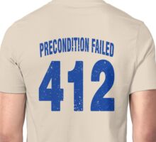 Team shirt - 412 Precondition Failed, blue letters Unisex T-Shirt