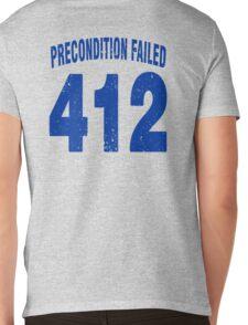 Team shirt - 412 Precondition Failed, blue letters Mens V-Neck T-Shirt
