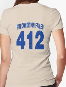Team shirt - 412 Precondition Failed, blue letters Womens Fitted T-Shirt