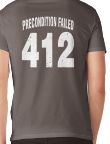 Team shirt - 412 Precondition Failed, white letters Mens V-Neck T-Shirt