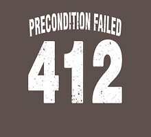 Team shirt - 412 Precondition Failed, white letters Unisex T-Shirt