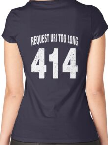 Team shirt - 414 Request URI Too Long, white letters Women's Fitted Scoop T-Shirt