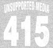 Team shirt - 415 Unsupported Media, white letters One Piece - Long Sleeve