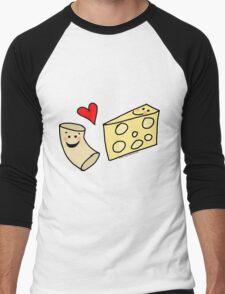 Cute Macaroni and Cheese Love Men's Baseball ¾ T-Shirt