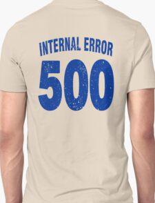 Team shirt - 500 Internal Error, blue letters T-Shirt