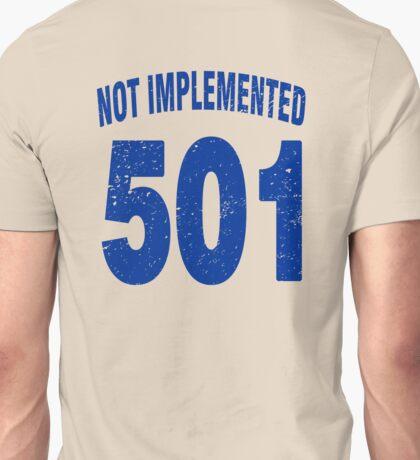 Team shirt - 501 Not Implemented, blue letters Unisex T-Shirt
