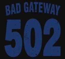 Team shirt - 502 Bad Gateway, blue letters Kids Clothes