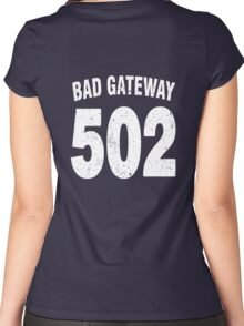 Team shirt - 502 Bad Gateway, white letters Women's Fitted Scoop T-Shirt