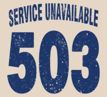 Team shirt - 503 Service Unavailable, blue letters by JRon