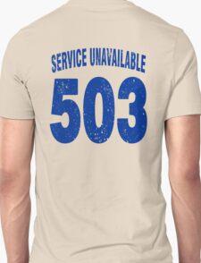 Team shirt - 503 Service Unavailable, blue letters T-Shirt
