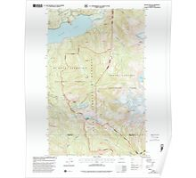 USGS Topo Map Washington State WA Bacon Peak 239892 1999 24000 Poster