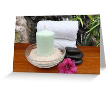 Spa Bath Scene Greeting Card