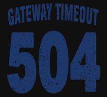 Team shirt - 504 Gateway Timeout, blue letters Kids Clothes
